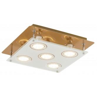 RABALUX 2253 | Naomi Rabalux mennyezeti lámpa négyzet 5x GU10 2000lm 3000K bronz, fehér