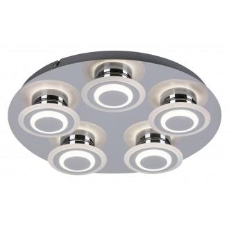 RABALUX 2260 | Demna Rabalux mennyezeti lámpa 5x LED 1800lm 4000K króm, fehér