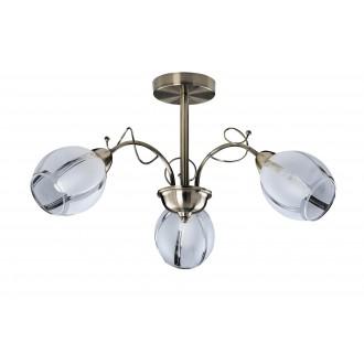 RABALUX 2270 | JoelR Rabalux csillár lámpa 3x E27 bronz, fehér, átlátszó