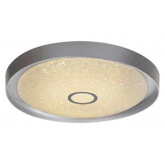 RABALUX 2297 | Skyler Rabalux mennyezeti lámpa távirányító szabályozható fényerő, állítható színhőmérséklet 1x LED 1630lm 3000 - 4000 - 6000K króm, kristály hatás