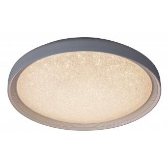 RABALUX 2299 | Esme Rabalux mennyezeti lámpa távirányító szabályozható fényerő, állítható színhőmérséklet 1x LED 1680lm 3000 - 4000 - 6000K fehér, csillogó