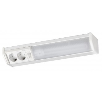 RABALUX 2321 | Bath Rabalux fali lámpa kapcsoló dugaljjal ellátott 1x G23 / T1U 840lm 2700K fehér