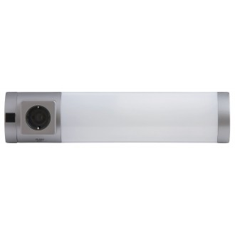 RABALUX 2326 | Soft Rabalux fali lámpa kapcsoló dugaljjal ellátott 1x G23 / T1U 840lm 2700K ezüst