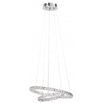 RABALUX 2442 | Carrie Rabalux függeszték lámpa 1x LED 2700lm 4000K króm, átlátszó