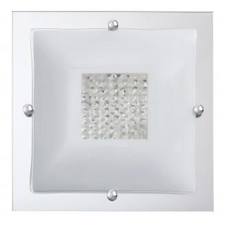 RABALUX 2468 | Deborah Rabalux mennyezeti lámpa 2x E27 króm, fehér, átlátszó