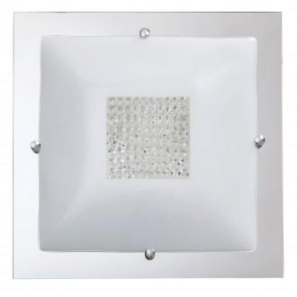 RABALUX 2469 | Deborah Rabalux mennyezeti lámpa 3x E27 króm, fehér, átlátszó