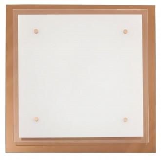 RABALUX 2477 | Cindy Rabalux fali, mennyezeti lámpa 3x E27 rózsaarany, fehér, átlátszó