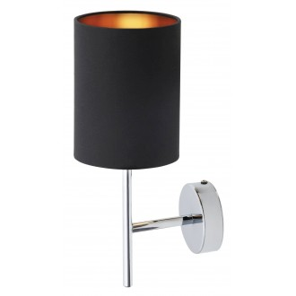 RABALUX 2525 | Monica Rabalux falikar lámpa 1x E14 króm, fekete, arany