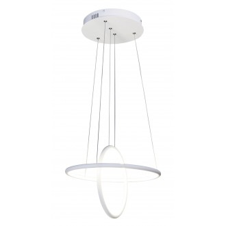 RABALUX 2544 | Donatella Rabalux függeszték lámpa 1x LED 2300lm 4000K króm, fehér