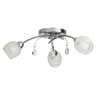 RABALUX 2621 | MelissaR Rabalux mennyezeti lámpa 3x E14 króm, fehér, átlátszó