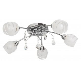 RABALUX 2622 | MelissaR Rabalux mennyezeti lámpa 5x E14 króm, fehér, átlátszó