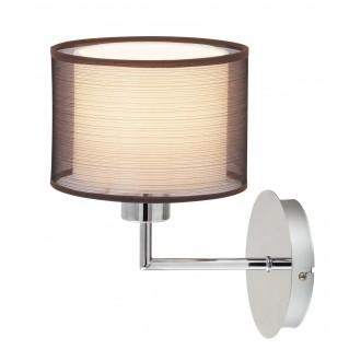 RABALUX 2628 | Anastasia Rabalux falikar lámpa 1x E27 króm, barna