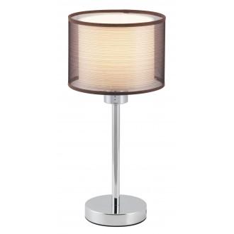 RABALUX 2631 | Anastasia Rabalux asztali lámpa 39cm vezeték kapcsoló 1x E27 króm, barna