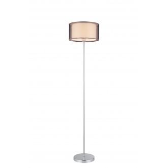 RABALUX 2633 | Anastasia Rabalux álló lámpa 157cm vezeték kapcsoló 1x E27 króm, barna
