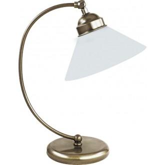 RABALUX 2702 | Marian Rabalux asztali lámpa 39cm vezeték kapcsoló 1x E27 bronz, fehér