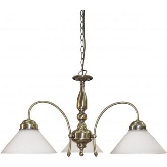 RABALUX 2703 | Marian Rabalux csillár lámpa 3x E27 bronz, fehér