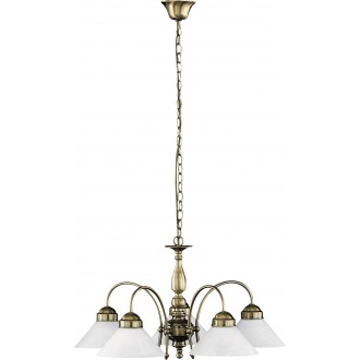 RABALUX 2705 | Marian Rabalux csillár lámpa 5x E27 bronz, fehér
