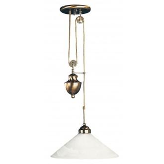 RABALUX 2706 | Marian Rabalux függeszték lámpa ellensúlyos, állítható magasság 1x E27 bronz, fehér