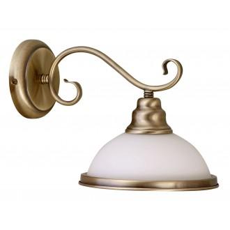 RABALUX 2751 | Elisett Rabalux falikar lámpa 1x E27 bronz, fehér