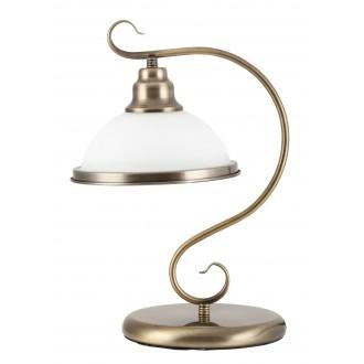RABALUX 2752 | Elisett Rabalux asztali lámpa 39cm vezeték kapcsoló 1x E27 bronz, fehér