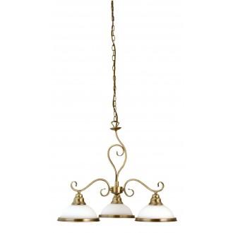 RABALUX 2753 | Elisett Rabalux csillár lámpa 3x E27 bronz, fehér