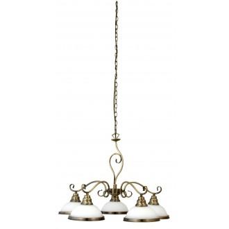 RABALUX 2755 | Elisett Rabalux csillár lámpa 5x E27 bronz, fehér