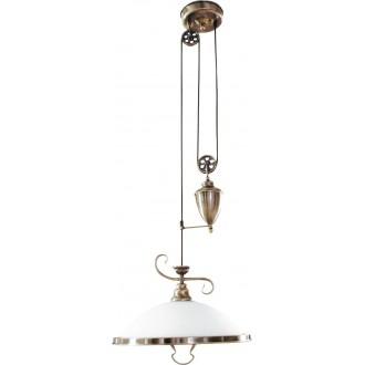 RABALUX 2756 | Elisett Rabalux függeszték lámpa ellensúlyos, állítható magasság 1x E27 bronz, fehér