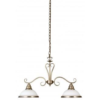 RABALUX 2757 | Elisett Rabalux függeszték lámpa 2x E27 bronz, fehér
