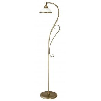 RABALUX 2758 | Elisett Rabalux álló lámpa 159cm vezeték kapcsoló 1x E27 bronz, fehér