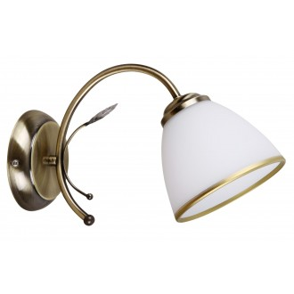 RABALUX 2778 | Aletta Rabalux falikar lámpa 1x E14 bronz, fehér