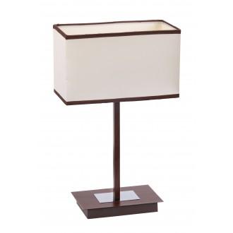 RABALUX 2896 | Kubu Rabalux asztali lámpa 44,5cm vezeték kapcsoló 1x E14 bézs, barna, wenge
