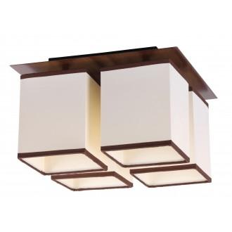 RABALUX 2897 | Kubu Rabalux mennyezeti lámpa 4x E14 bézs, barna, wenge