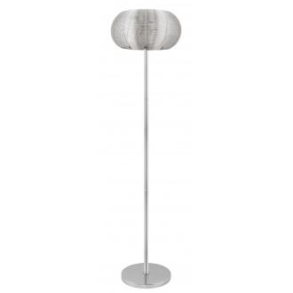 RABALUX 2906 | Meda Rabalux álló lámpa 164cm vezeték kapcsoló 2x E27 ezüst