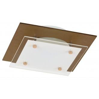 RABALUX 3028 | Janine Rabalux mennyezeti lámpa 1x LED 1920lm 3000K borostyán, fehér