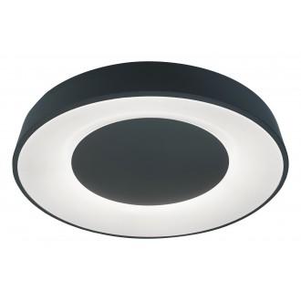 RABALUX 3082   Ceilo Rabalux mennyezeti lámpa kerek távirányító szabályozható fényerő, állítható színhőmérséklet, időkapcsoló, éjjelifény, háttérvilágítás 1x LED 3200lm 3000 <-> 6500K fekete, fehér