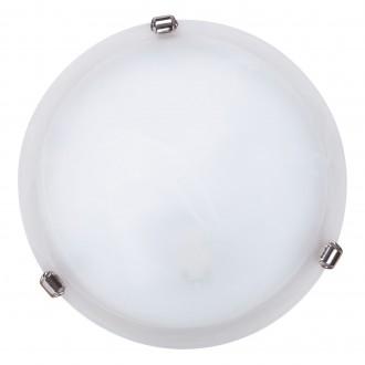 RABALUX 3202   Alabastro1 Rabalux fali, mennyezeti lámpa 1x E27 fehér, króm, alabástrom