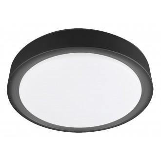 RABALUX 3283 | Foster-RA Rabalux mennyezeti lámpa kerek távirányító, mozgásérzékelő szabályozható fényerő, állítható színhőmérséklet, színváltós, időkapcsoló, éjjelifény, háttérvilágítás 1x LED 1300lm 2700 <-> 5000K fekete, fehér