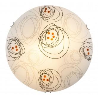RABALUX 3291 | DebbyR Rabalux fali, mennyezeti lámpa 2x E27 fehér, fekete, barna