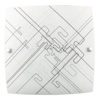 RABALUX 3292 | Roger Rabalux fali, mennyezeti lámpa 1x E27 fehér, fekete