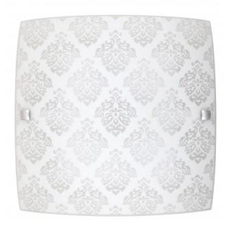RABALUX 3330 | Fleur-RA Rabalux fali, mennyezeti lámpa négyzet 1x LED 1440lm 3000K fehér, minta