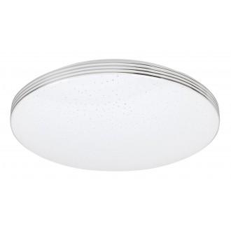 RABALUX 3347 | Oscar-RA Rabalux mennyezeti lámpa kerek 1x LED 1350lm 4000K króm, fehér, csillogó