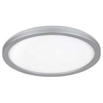 RABALUX 3358 | Lambert Rabalux mennyezeti lámpa kerek 1x LED 1500lm 4000K IP44 ezüst, fehér