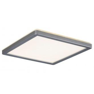 RABALUX 3359 | Lambert Rabalux mennyezeti lámpa négyzet 1x LED 1500lm 4000K IP44 ezüst, fehér