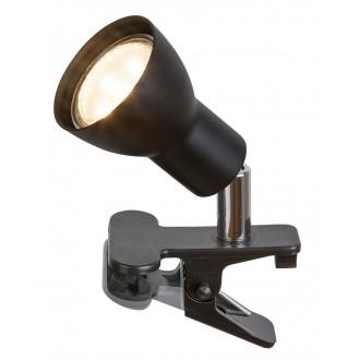RABALUX 3475 | Fred Rabalux csiptetős lámpa vezeték kapcsoló elforgatható alkatrészek 1x GU10 250lm 3000K matt fekete