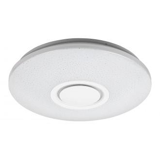 RABALUX 3509 | Rabalux-Smart-Rodion Rabalux mennyezeti okos világítás kerek távirányító hangszóró, szabályozható fényerő, színváltós, állítható színhőmérséklet, Bluetooth, időkapcsoló, WiFi kapcsolat, éjjelifény 1x LED 1800lm 2700 <-> 6500K fehér, k