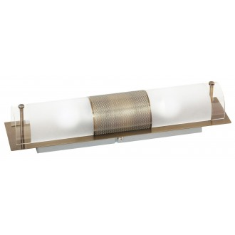RABALUX 3552 | Periodic Rabalux fali, mennyezeti lámpa 2x E14 bronz, átlátszó, fehér
