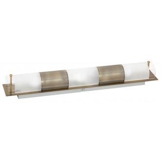 RABALUX 3553 | Periodic Rabalux fali, mennyezeti lámpa 3x E14 bronz, átlátszó, fehér