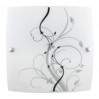 RABALUX 3692 | Elina Rabalux fali, mennyezeti lámpa 1x E27 króm, fehér, minta