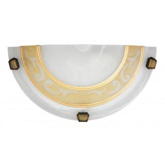 RABALUX 3712 | Laretta Rabalux fali lámpa 1x E27 alabástrom, bronz