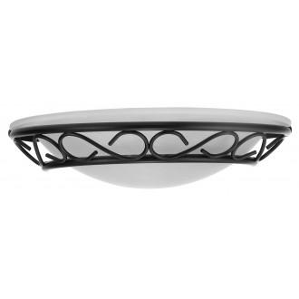 RABALUX 3721 | Athen Rabalux fali lámpa 1x E14 fekete, fehér alabástrom